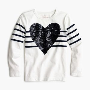 Gorgeous Crewcuts  Sequined Heart!!